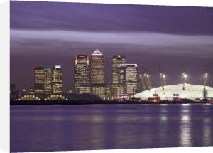 Canary Wharf and the Millennium Dome at night 1 by Assaf Frank