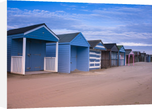 Beach Huts at West Wittering Beach, UK by Assaf Frank