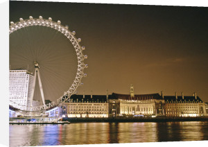 London Eye and County Hall at night by Assaf Frank