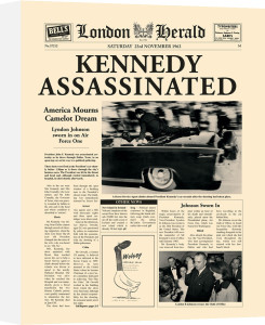 Kennedy Assassinated by London Herald