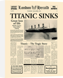 Titanic Sinks by London Herald
