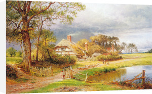 Old English Cottages by Benjamin Williams Leader