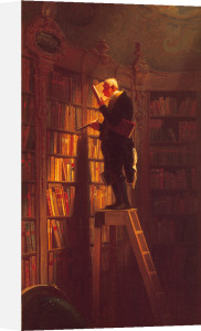 The Bookworm (l) by Carl Spitzweg