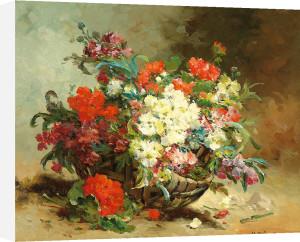 A Basket of Flowers by Eugene Henri Cauchois