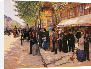 On the Boulevard by Jean Beraud