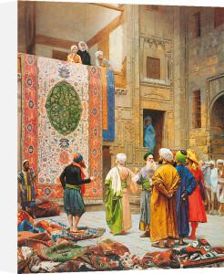 The Carpet Market by Jean-Leon Gerome