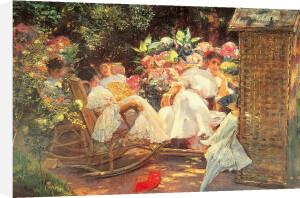 Ladies in a Garden by Jose Villegas y Cordero