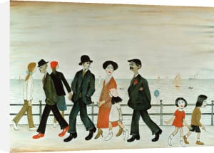 On The Promenade by L S Lowry