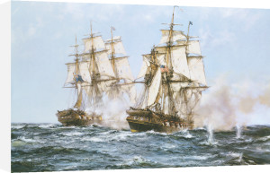 Java' and 'Constitution' by Montague Dawson