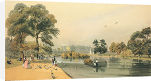 Buckingham Palace from St. James's Park by Thomas Shotter Boys
