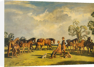 Summer evening, Clivenden by Sir Alfred Munnings