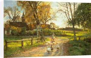 The goose girl by Peder Monsted