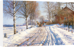 Winter scene by Peder Monsted