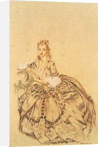 Madame du Barry in Banishment by Sir William Russell Flint