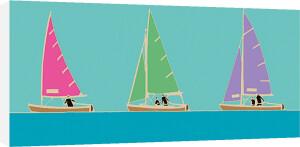 Sailing Trio II by Emily Burningham