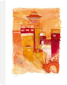 Temple pilgrims by Liz Myhill