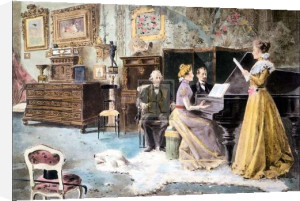 A rehearsal at meyerbeers home by A. Pavoni