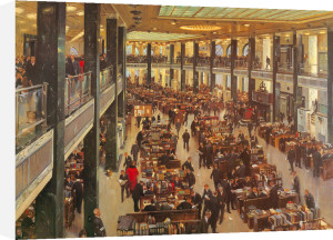 The Underwriting Room At Lloyd'S by Terence Cuneo