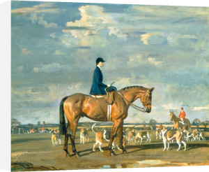 Sybil Harker on Saxa by Sir Alfred Munnings
