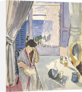 Woman reading at a Dressing Tabel, late 1919 by Henri Matisse