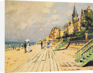 Beach at Trouville, 1870 by Claude Monet