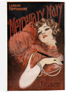 'Mercenary Mary' - London Hippodrome programe from 7th October 1925. Musical by Anonymous