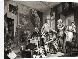The Rake's Progress, the Heir by William Hogarth