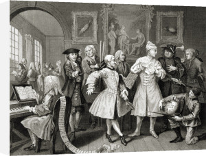 The Rake's Progress, The Levee by William Hogarth