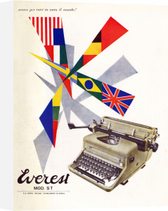 Everest advertisement for typewriter by Anonymous