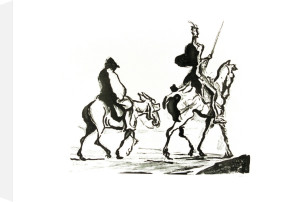 Don Quixote by Honoré-Victorin Daumier
