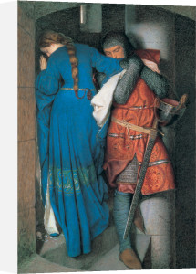 The Meeting on the Turret Stairs by Frederick William Burton