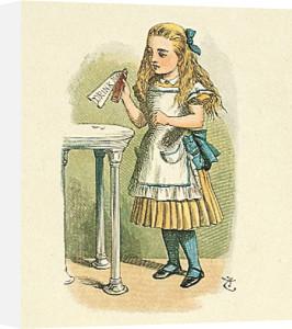 How Alice grow tall by Sir John Tenniel