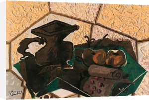 Le tapis vert by Georges Braque