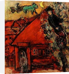 The Red House by Marc Chagall