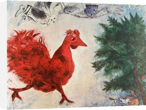 The Red Rooster by Marc Chagall