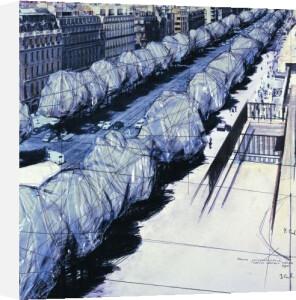 Wrapped Trees, Paris, 1969 by Javacheff Christo