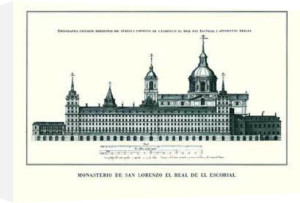 El Escorial - Seitenansicht by Architekturplakate