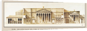 Rome - Foro di Augusto, 1869 by Architekturplakate