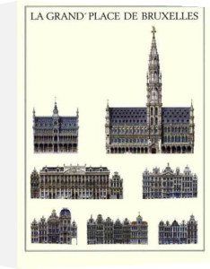 Brussels - La Grand Place De Bruxelles by Architekturplakate