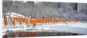 The Gates Skyline im Schnee, Druck by Javacheff Christo