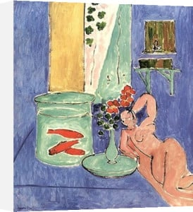 Goldfish and Sculpture by Henri Matisse