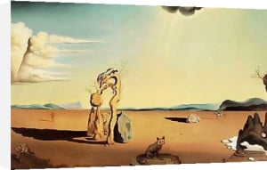 Naked Woman in the Desert by Salvador Dali