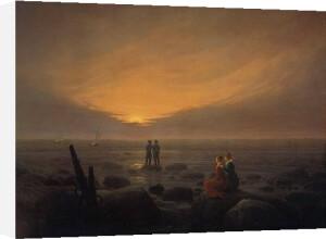 Mondaufgang am Meer, Eremitage by Caspar David Friedrich