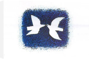 Couple d'oiseaux (Silkscreen print) by Georges Braque