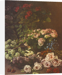 Spring Flowers, 1864 by Claude Monet