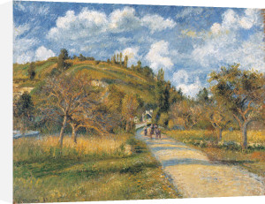 The Highway (La cote de Valhermeil), 1880 by Camille Pissarro