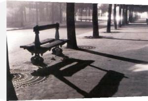 Le banc, boulevard Pasteur, Paris, 1927 by Rene Jacques