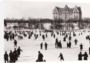 Skating in Central Park, ca. 1890 by J.S. Johnston