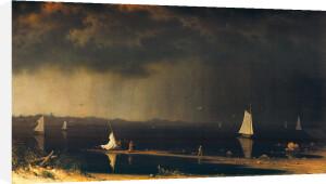 Thunder Storm on Narragansett Bay, 1868 by Martin Johnson Heade