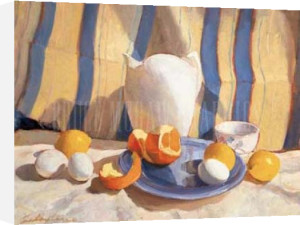 Pitcher with Eggs and Oranges by Tony Saladino